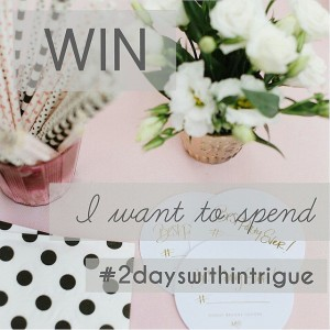 Do you want to spend #2dayswithintrigue? @intrigue_designs giving away one…