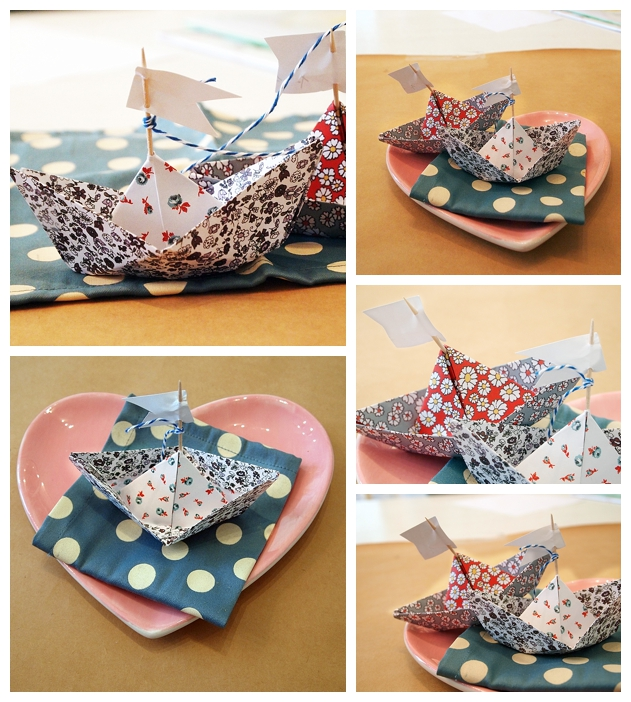 Diy sailboat placecards