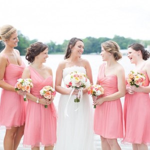 Lovely shot of the bride and her girls Catch Carriehellip