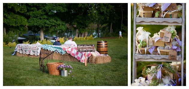 eastern shore hay bails and vintage cloths