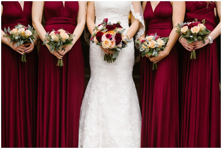 berry bridesmaids dresses