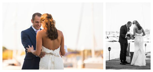 Waterfront wedding reveal