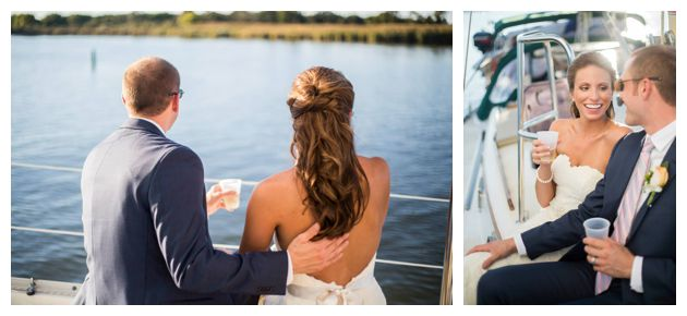 Wedding boat ride