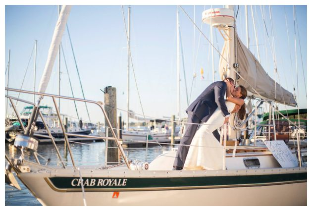 romantic waterfront wedding dip!