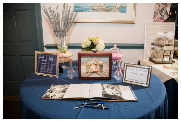 nautical wedding guest book
