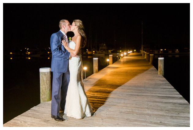 waterfront wedding kiss!
