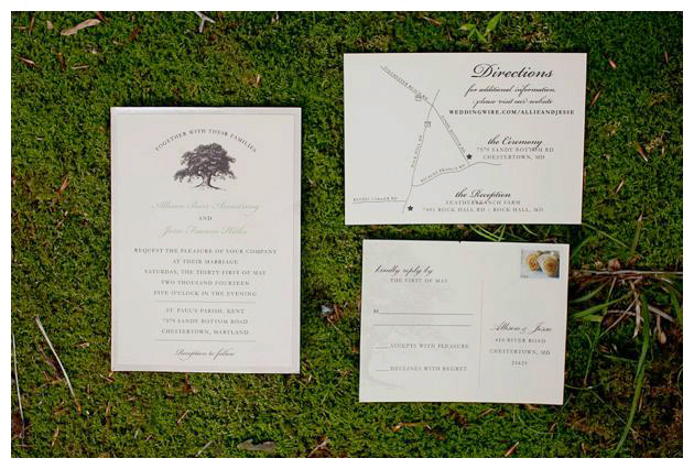 Eastern shore wedding invitations