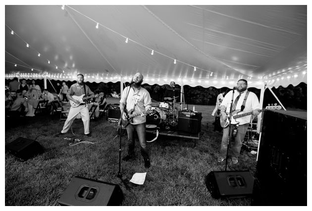 live band at the eastern shore wedding
