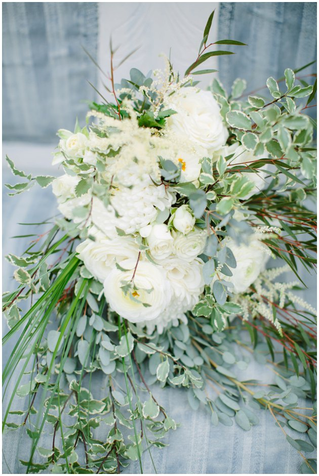 White & Green Wedding Bouquet