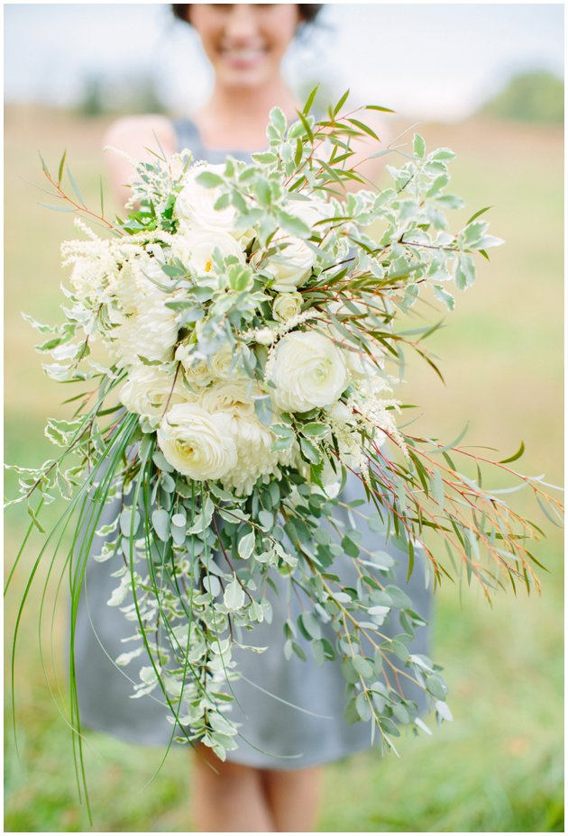 Natural White & Green Wedding Bouquet