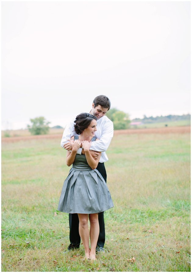 Neutral Floral Engagement Session