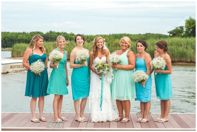 Waterfront Nautical Wedding Silver Swan Bayside, Stevensville Maryland