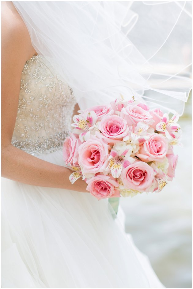 Romantic Pink & White Bridal Bouquet