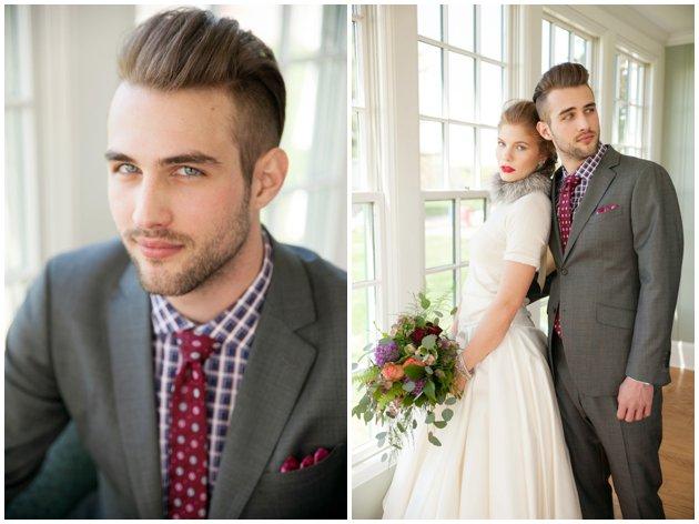 Winter Wedding Bride & Groom Style