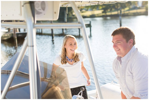 Boating engagement session