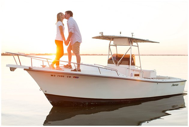 Boat engagement session