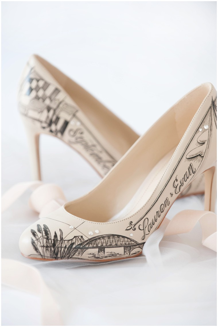 custom wedding shoes