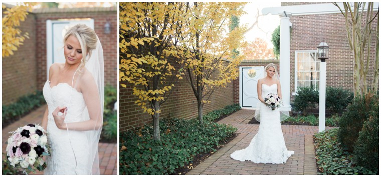 bridal bouquet, white veil, Tidewater Inn wedding
