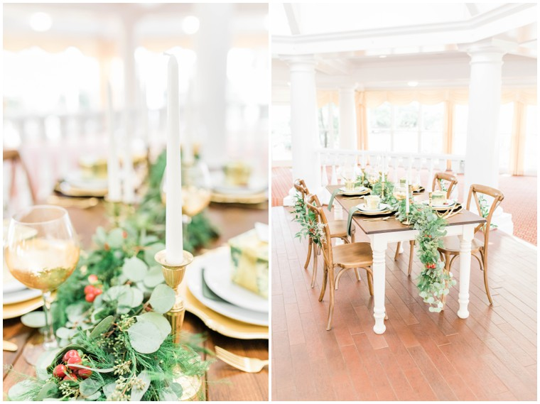 gold and green wedding inspo