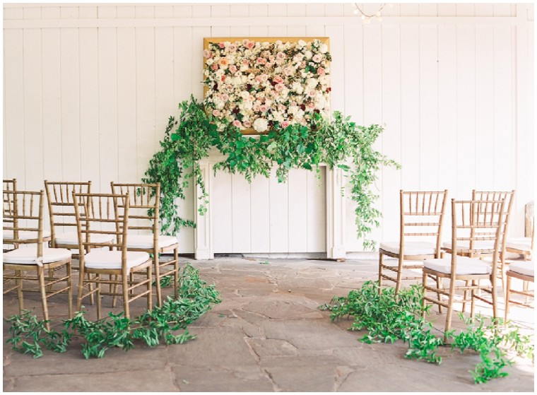 wedding trends, floral backdrops
