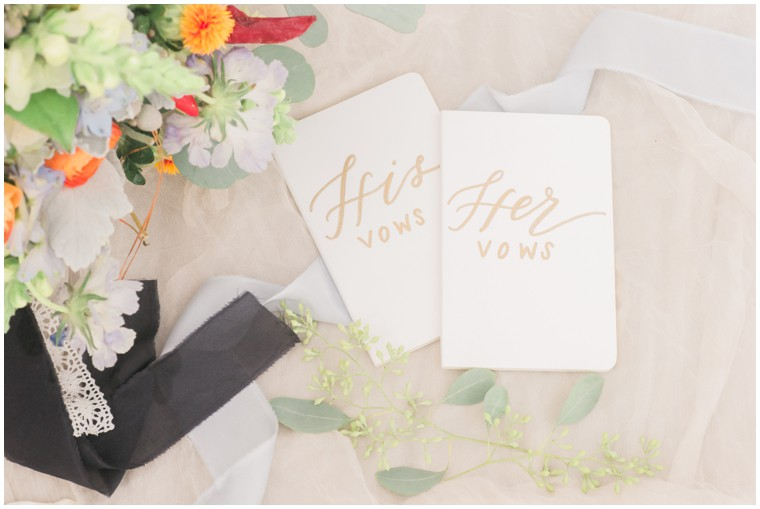 his and her vows, wedding decor