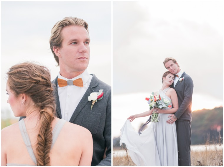 pretty grey wedding
