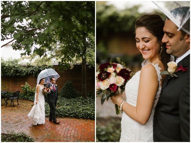 rainy wedding, umbrella wedding pictures