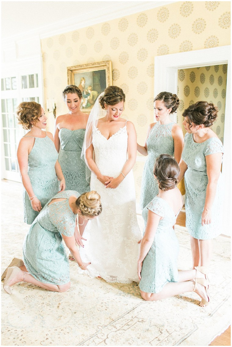 Mint Bridesmaid Dresses, Getting Ready Photos
