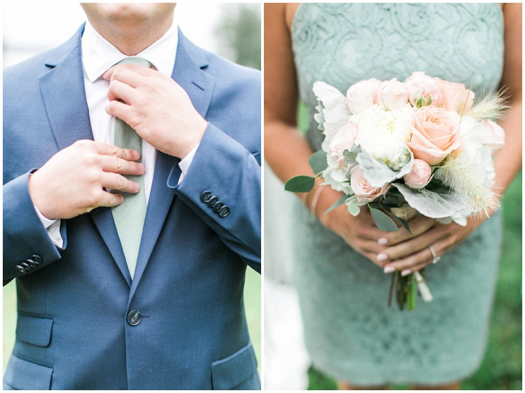 Mint and Navy Wedding, Groomsmen Suits, Mint Bridesmaid Dress