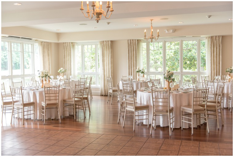 cream and gold wedding reception