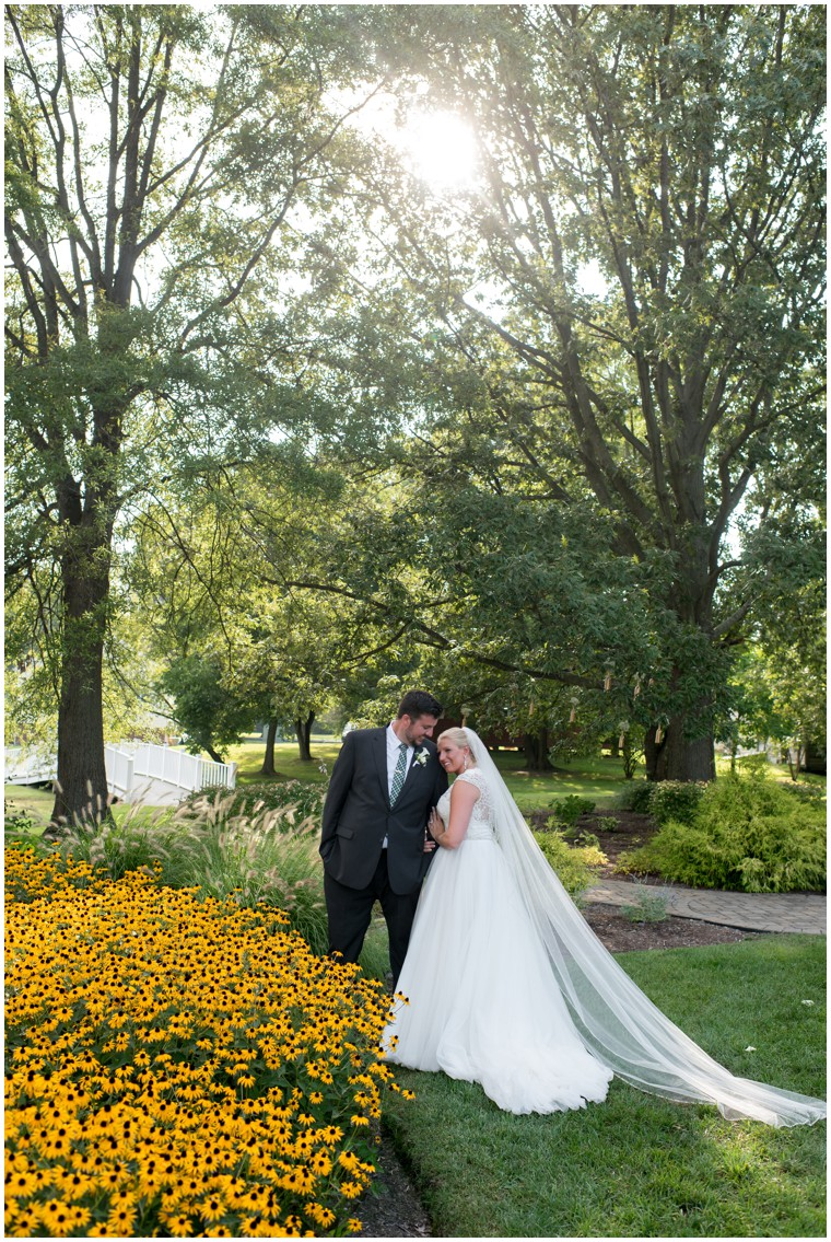 wedding portrait with black eyed susans