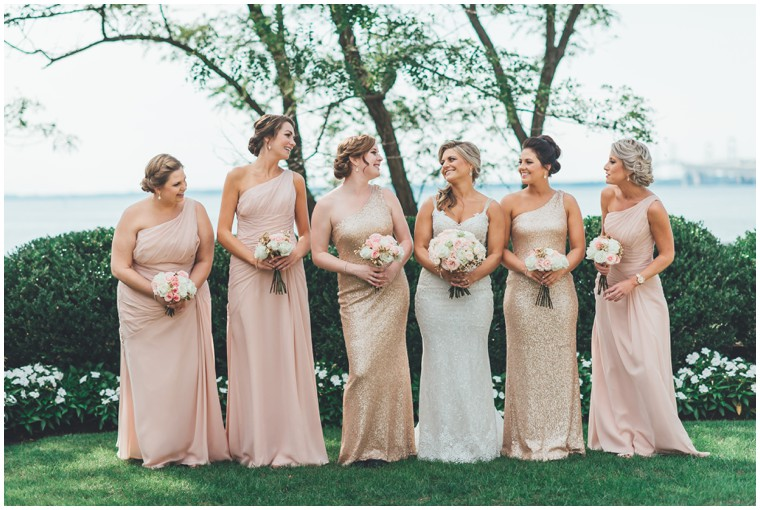 bush and gold bridesmaid dresses