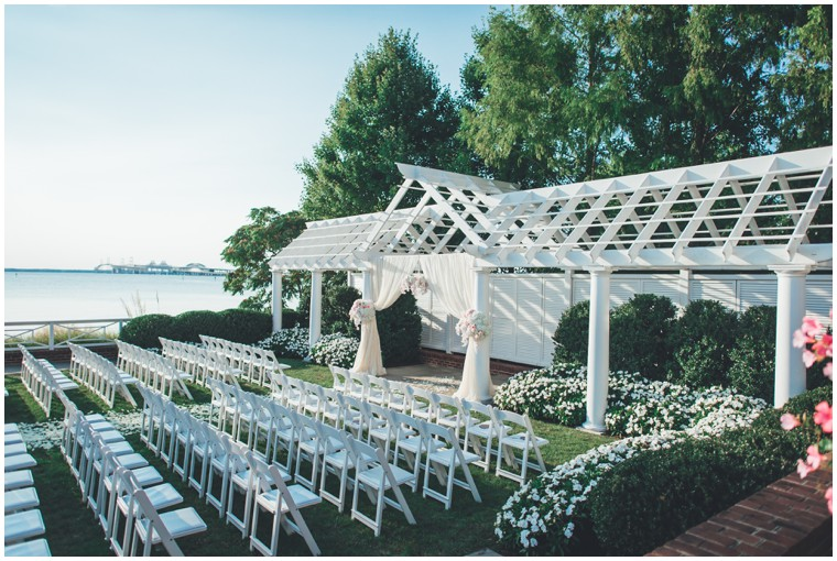 outdoor ceremony at the chesapeake bay beach club