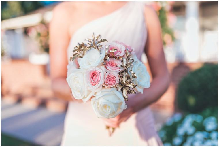 rose and gold bridesmaid bouquet