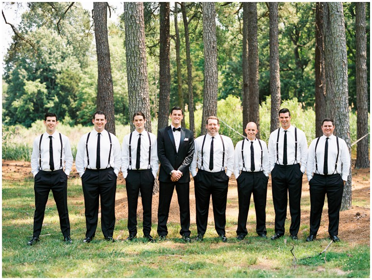 Black Tux Suspender Groom and Groomsmen