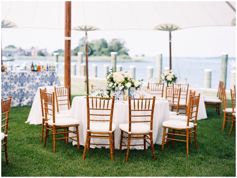 Classic Blue and White Nautical Wedding Decor