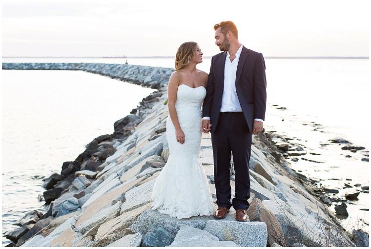Waterfront Newlyweds