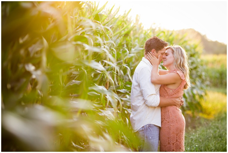Outdoor Sunset Engagement