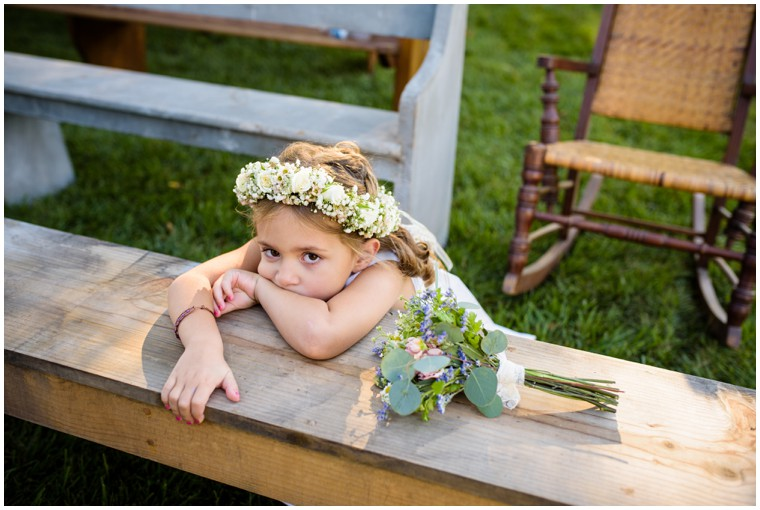 Flower Girl Bouquet and Flower Crown