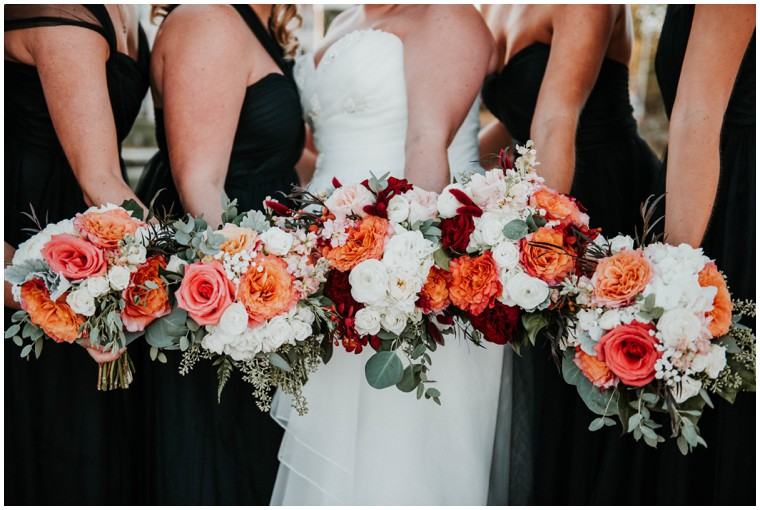 Perfect Pink and Coral Bridal Bouquets