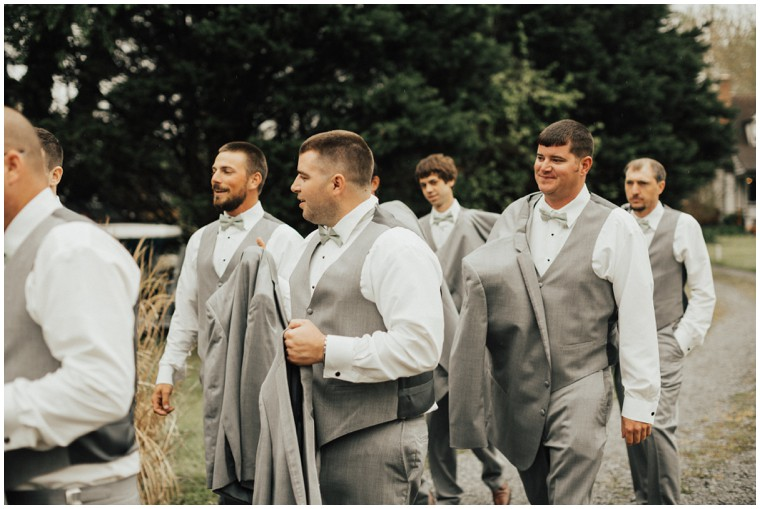 Grey and Mint Groomsmen Suits
