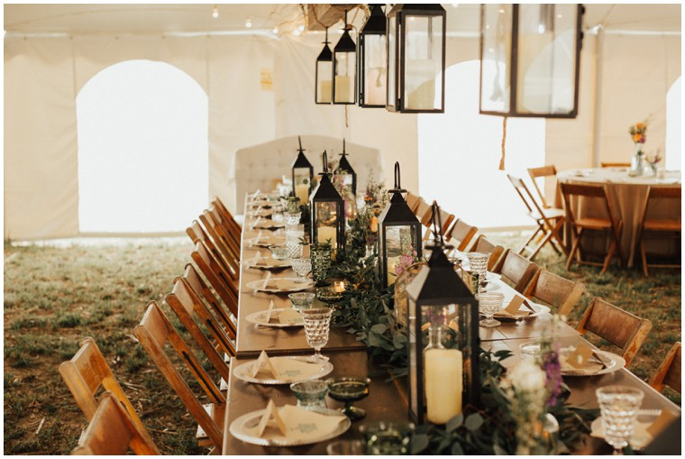 Rustic Farm Wedding Reception