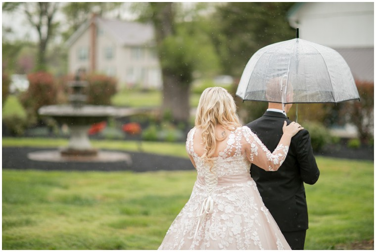 Rainy Day Wedding First Look