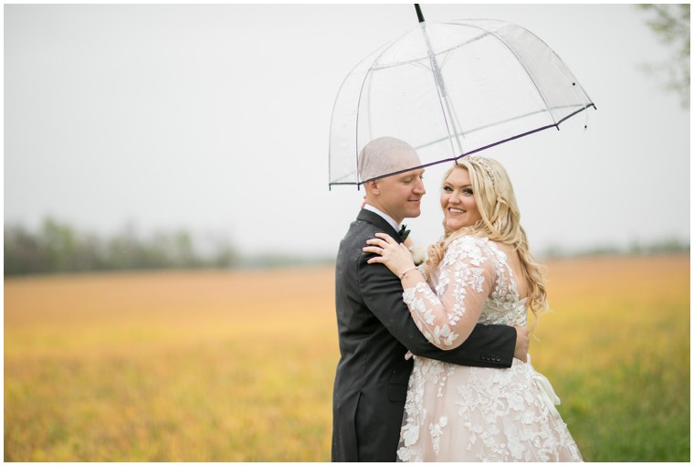 Rainy Day Rustic Farm Wedding