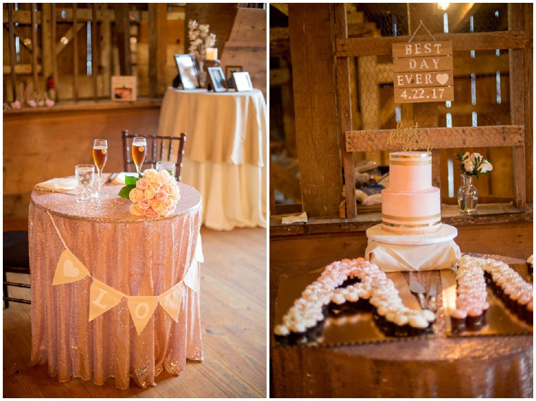 Blush and Gold Rustic Wedding Details