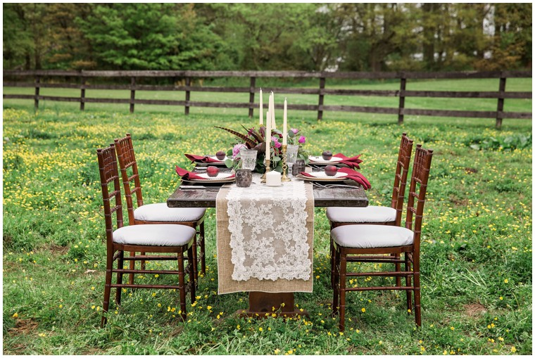 pretty farm wedding