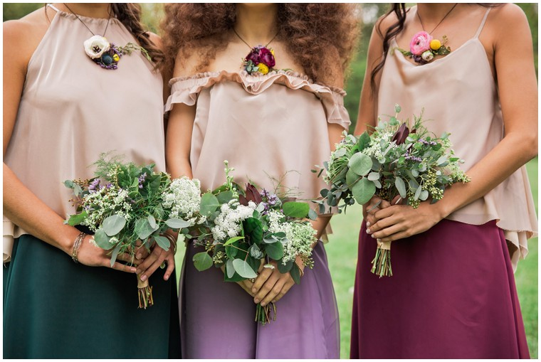 Boho style and bouquets