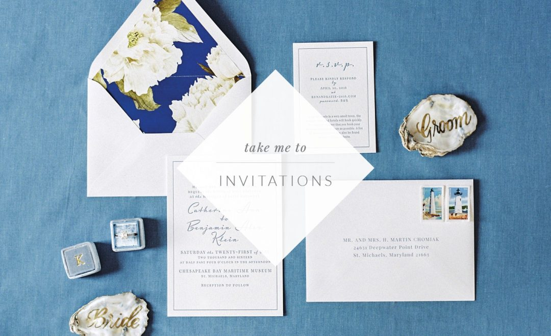 Eastern Shore Wedding Invitation Designer