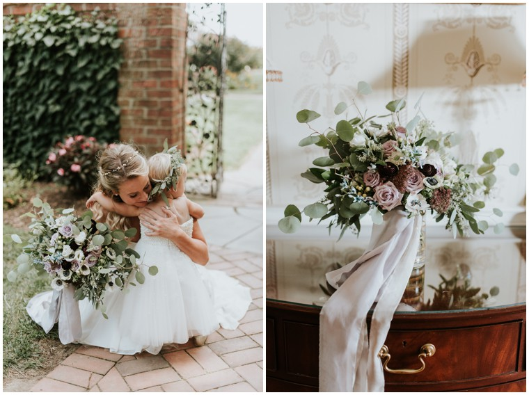 flower girl Shabby Chic Wedding on Maryland's Chester river