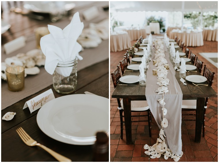 oyster wedding decor